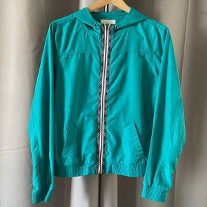 Zine Teal Lightweight Windbreaker Jacket M